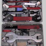 Mountainbike Montageständer und Werkzeugkoffer